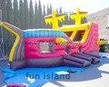 Новейший дизайн живопись пиратский корабль надувные слайд для продажи