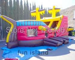 The Newest Design Painting Pirate Ship Inflatable Slide for Sale bmbe табурет pirate