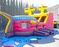 The Newest Design Painting Pirate Ship Inflatable Slide for Sale