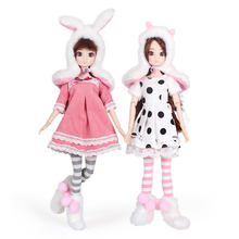 13 Moveable Joints 1/6 3D Eyes BJD Doll Toys With Accessories Clothes Shoes Bag Hat Fashion Figure Nake Dolls Toy For Girls Gift(China)