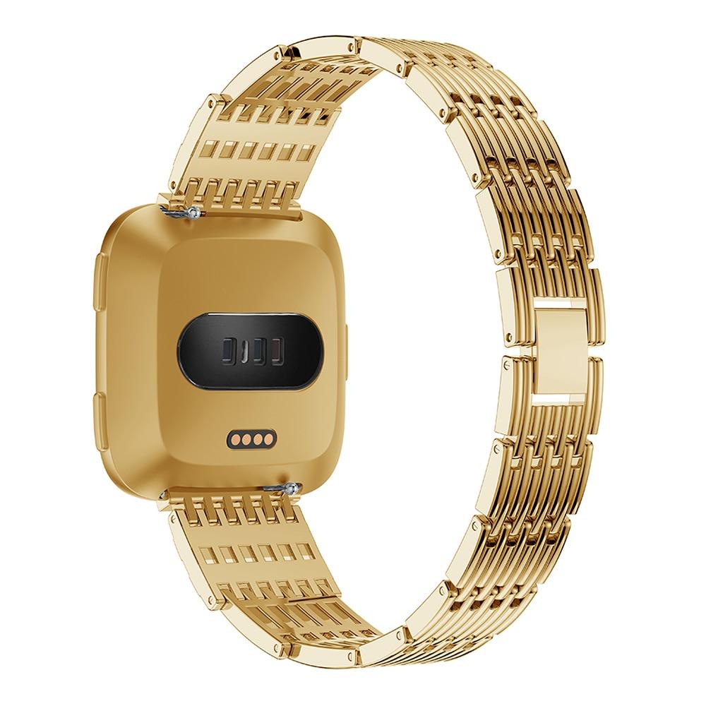 Steel strip watch strap For Fitbit Versa band screwless bracelet replacement metal wristbands accessories For Fitbit Versa in Watchbands from Watches