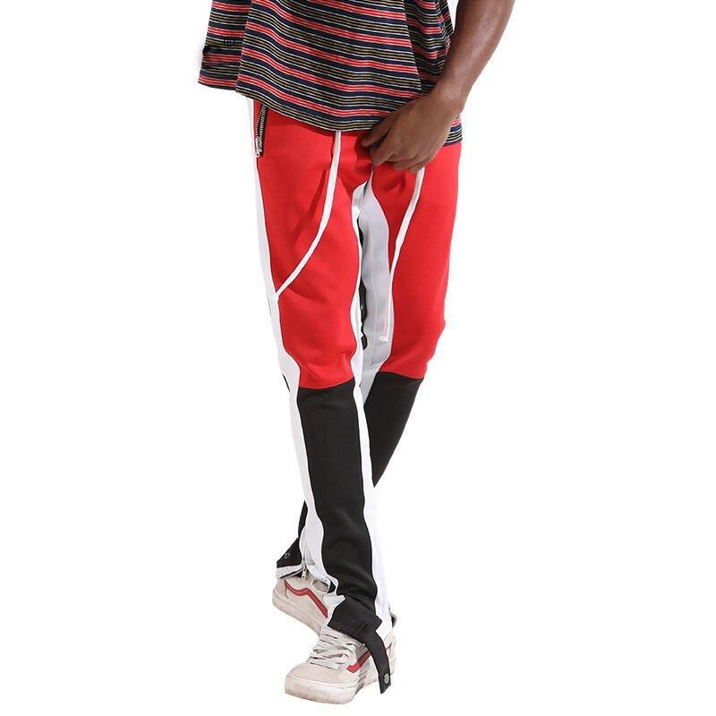Blue Casual Imprimé Hip Hop Harem Hommes Pantalons Pantalon Red yellow Block De yellow White Streetwear Patchwork Black Color Joggeurs 2018 Survêtement Mâle xHqYzwWI