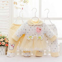 Winter Baby Girl Clothes Kids Clothes And Accessories Newborn Baby Girls Clothing Set Baby's 3pcs/Sets free shipping