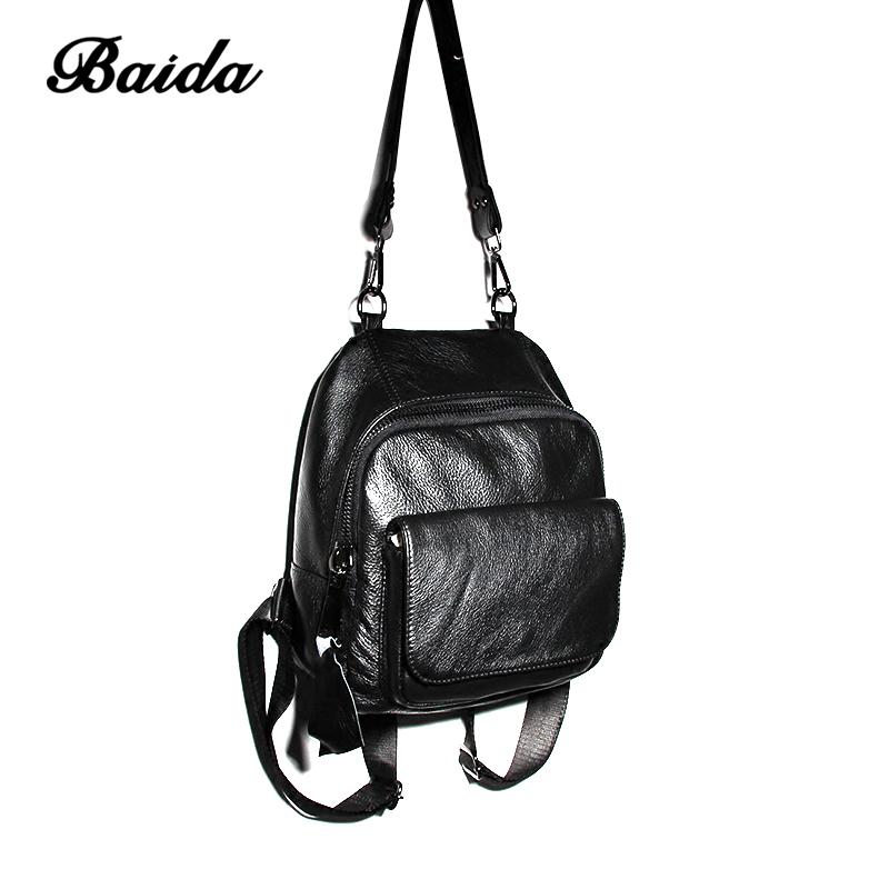 New Arrival Fashion Genuine Leather Women's Backpacks for Teenage Girls Book School Bag Supplies Female Ladies Mochilas Feminina new arrival 100% excellent genuine leather laptop backpacks 7202i 1