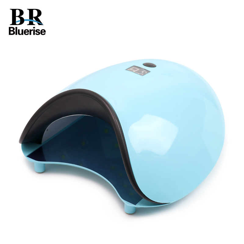 UV LED Nail Lamp 48W Nail Dryer Curing Gel Polish Light with Bottom 15s/30s/60s Timer LCD Display Nail Art Tools BLUERISE LED 78