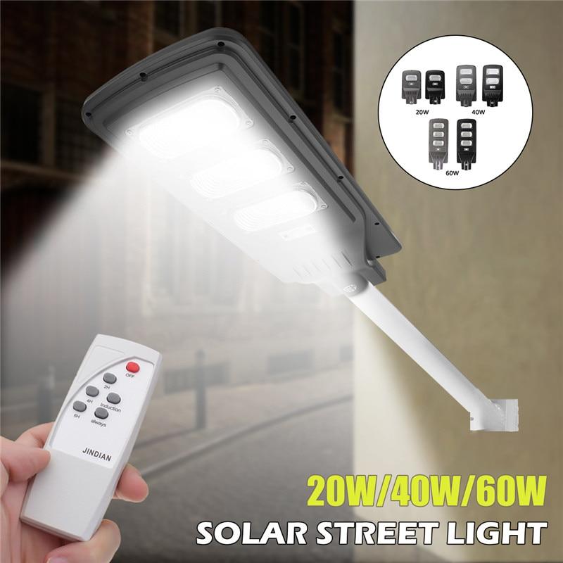 20/40/60 W Super brillante LED Solar Sensor de movimiento luz lámpara de pared Luz de calle al aire libre control impermeable seguridad jardín