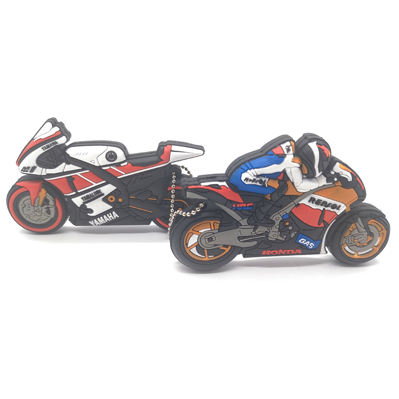 8GB Motorbike style Flash Memory Flash Drives Motorcycle Rider USB Stick