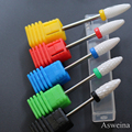 "1 PCS Pro 5 Sizes Milling 3/32"" Nail Art Ceramic Nail Drill Bit Rotary Burr For Electric Manicure Machines Pedicure Nail Tools"