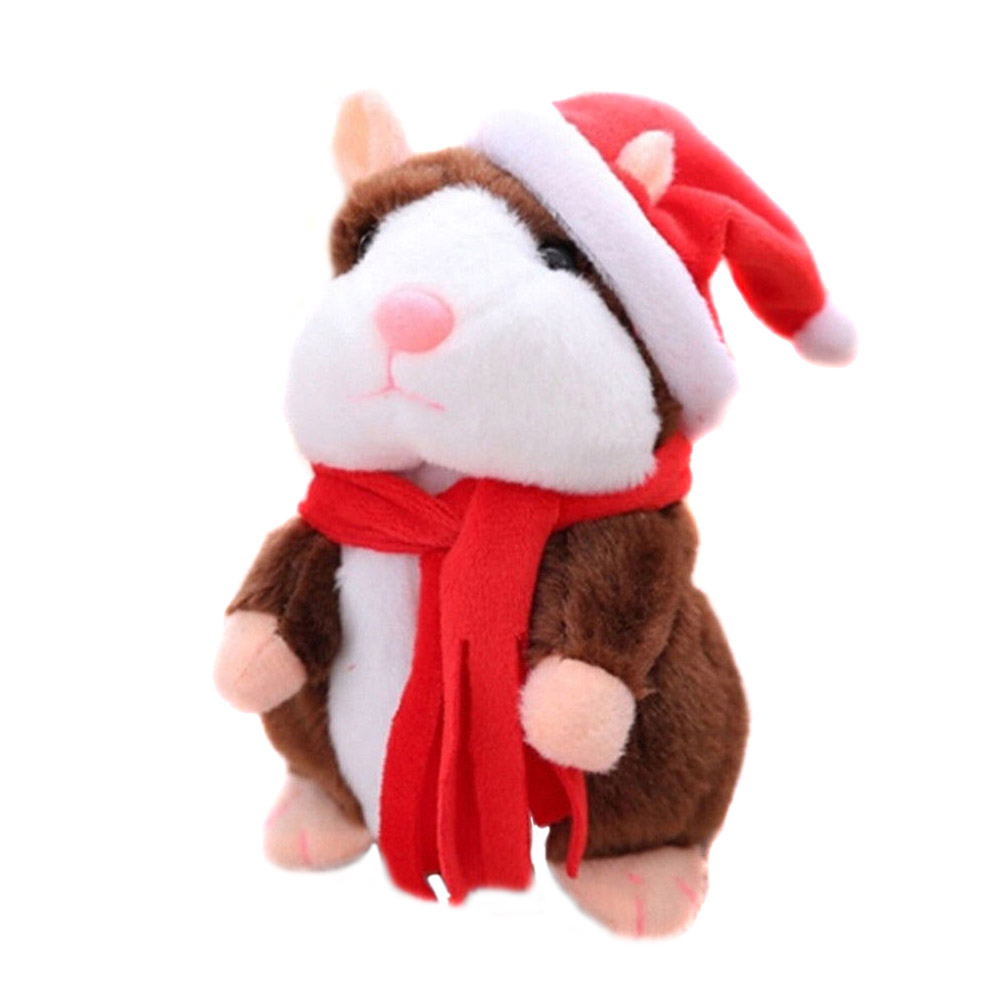 Cheeky Hamster Electric Talking Walking Pet Christmas Toy Speak Record Hamster Plush Stuffed Kid TOys AN88 2018 talking hamster mouse pet plush toy learn to speak electric record hamster educational children stuffed toys gift 15cm