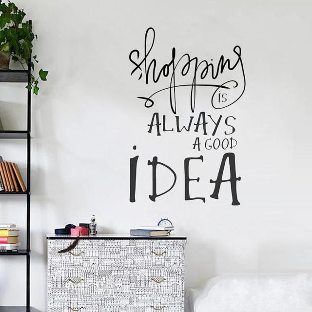 Pc Personnalit Conception Anglais Wall Sticker Home Filles