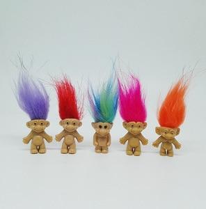 Image 5 - 5 pz/lotto Colorful Capelli Bambola Troll I Membri della Famiglia Papà Mamma Del Bambino Della Ragazza del Ragazzo Diga Trolls Figura Giocattolo Regali di Famiglia Felice