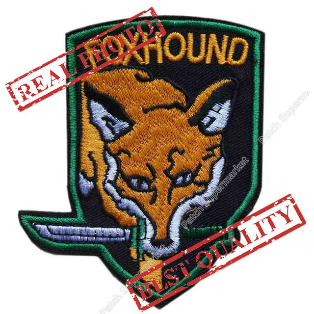 35 METAL GEAR SOLID Patch Foxhound Insignia Special Force Group Ghost Embroidered LOGO Iron On