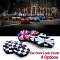 2pcs Mini Cooper Clubman carbio roadster coupe R55 R56 R57 R58 R59 Car door rust resistant door lock buckle cover union jack