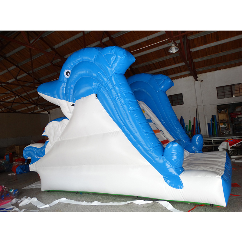 PVC Inflatable Commercial Dolphin Inflatable Water Slide Jumping For Kids