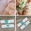 2 diferentes tamaños de las pc/paquete de novia pierna decorativos Accesorios de La Boda liga nupcial rosa flores del disco de encaje tradicional 6zza227