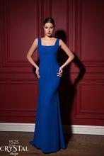 Quadratischen Ausschnitt Jersey Royal Blau Trompete Lange Einbau Formale Abendkleid mit Langarm Bolero Jacke Kleid