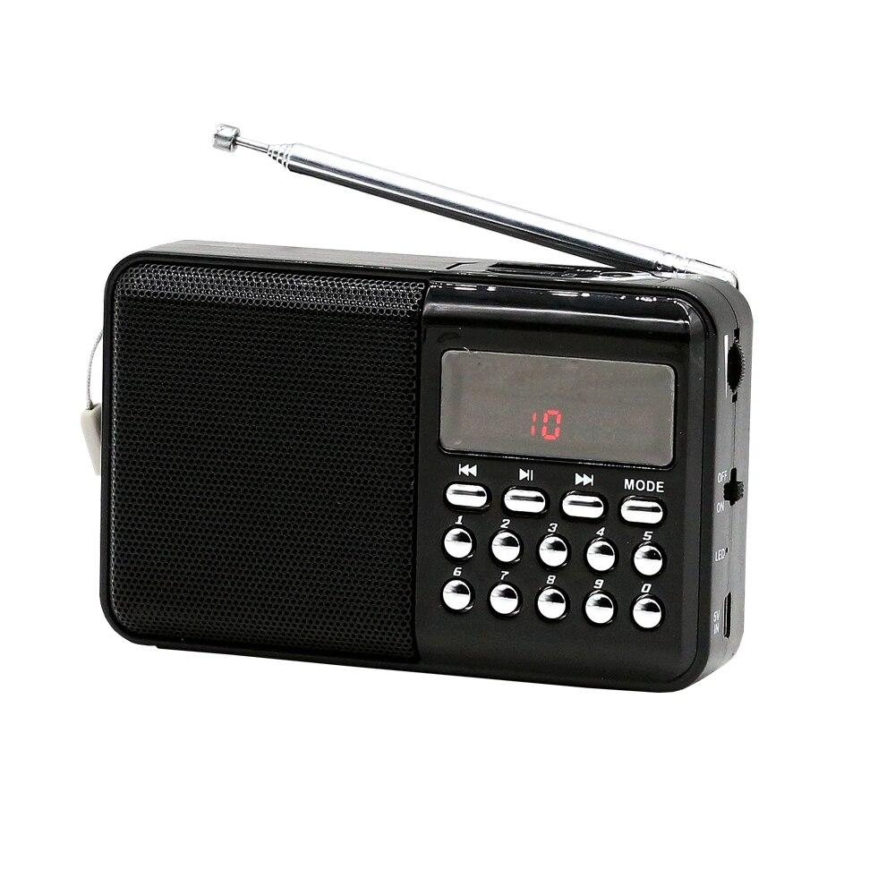 E3301-mini FM radio-black