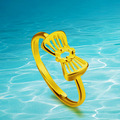 fashion jewelry Luxury design quality 24 k vacuum plating don't rub off allergies for women butterfly  ring
