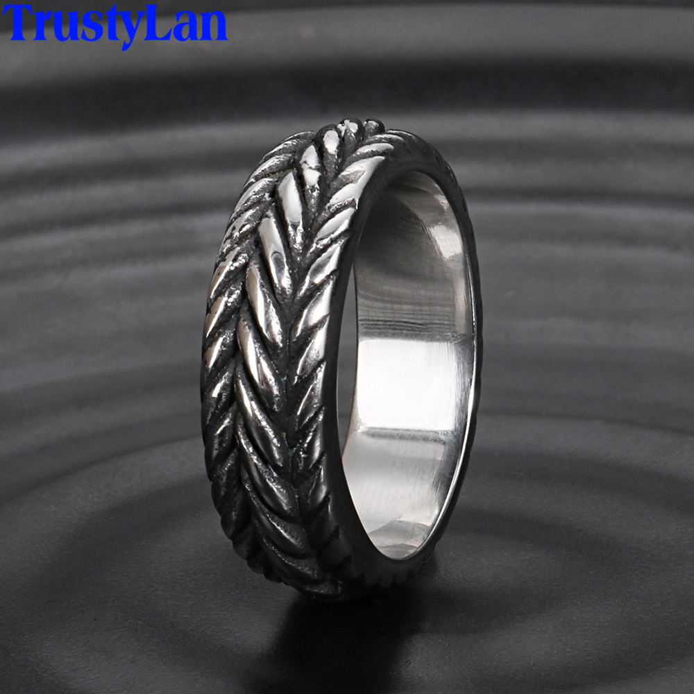 Personalized Handmade Solid Stainless Steel Mens Ring Comfort Fit