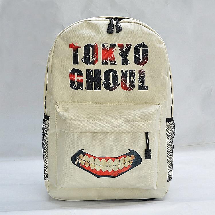 FAIRY SERAHIM Printing Cartoon Tokyo Ghoul letter School Bag For Teenagers Travel Bags Men's Polyester Daily Teeth Backpack