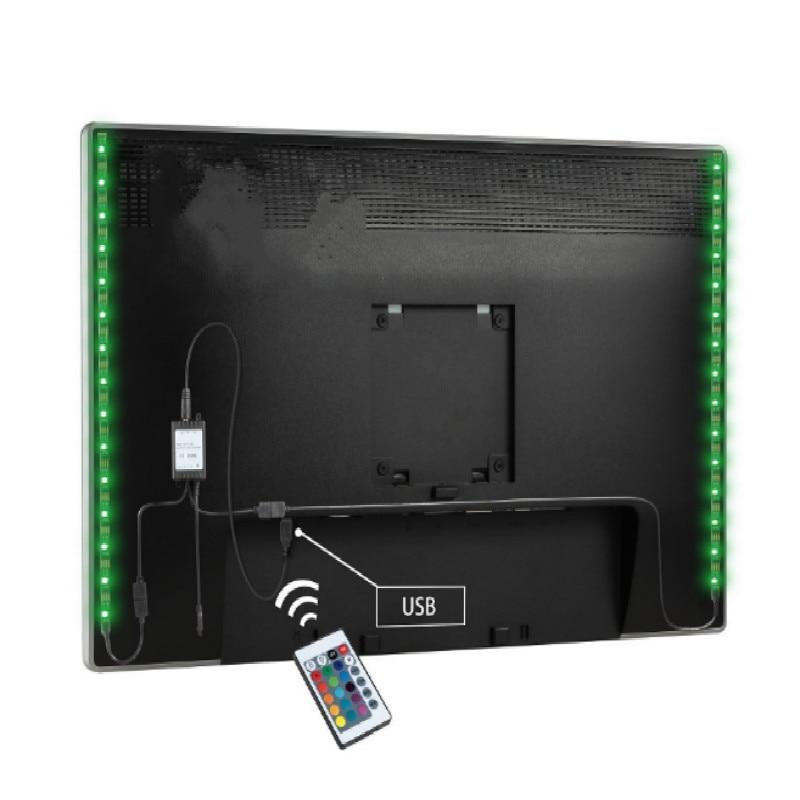 Купить с кэшбэком 5v tv led tv USB connection with Remote control modify color length 1M 2M 3M 4M 5M free shipping
