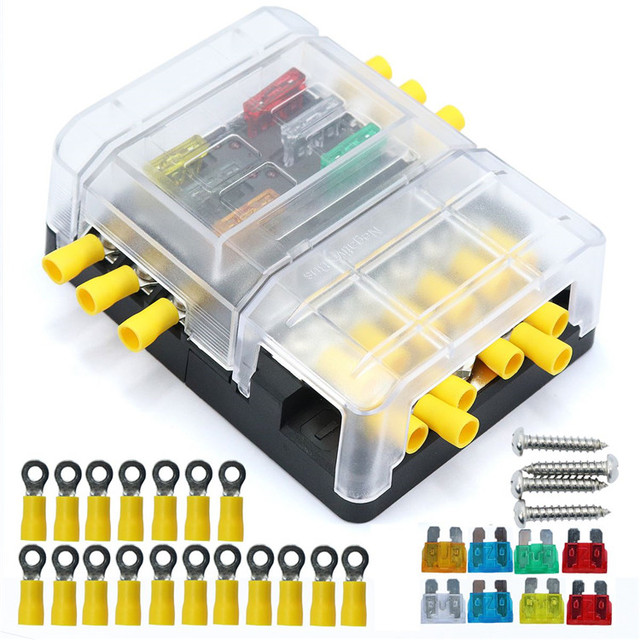 Modular Design Fuse Bus Bar Box Series Heavy Duty Terminal Studs Auto Replacement