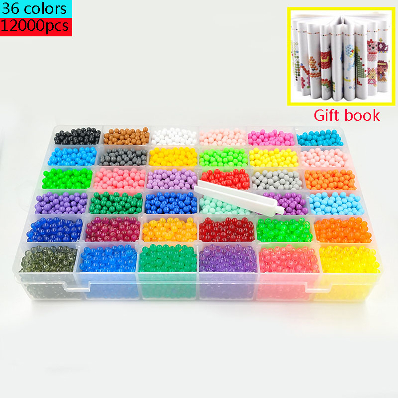 12000 pcs Puzzle DIY Toys montessori 5mm beads Ring Refill Toys For Children Educational Kit Ball Game Beads Juguetes baby toys(China)