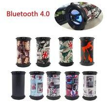 лучшая цена Bluetooth Speaker Portable Outdoor Portable Subwoofer Bass Wireless Speakers stereo audio music player LED light,TF card , USB
