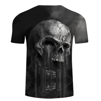 FLowing 3D Skull T shirt Men t-shirt Summer tshirt Groot Tees Funny Tops Streatwear Camiseta Short Sleeve DropShip ZOOTOPBEAR 1
