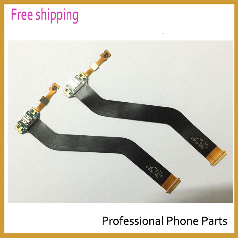 imágenes para 10 unids/lote original para samsung galaxy tab 4 10.1 t530 cargador port dock usb de carga conector flex ribbon cable