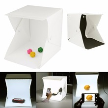 Portable Folding Lightbox Photo Studio Softbox LED Light Soft Box Tent Kit for Phone DSLR Camera Photography Background