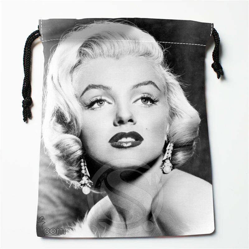 Fl-Q160 New Marilyn Monroe &4 Custom Printed  Receive Bag  Bag Compression Type Drawstring Bags Size 18X22cm 711-#Fl160
