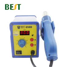 BEST-858D Adjustable Digital High Power Lead-Free Spiral Temperature Display Hot Air Gun Desoldering Station BGA Rework Station hot sale temperature control lead free desoldering and soldering stations bst 939d