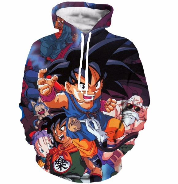 Anime Dragon Ball Z Pocket Hooded Sweatshirts Kid Goku 3D Anime Dragon Ball Z Pocket Hooded Sweatshirts Kid Goku 3D HTB1z7