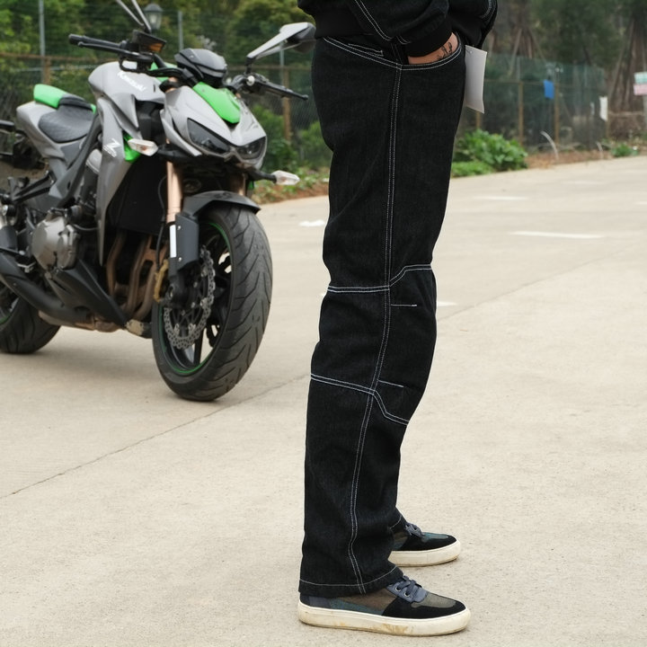 Free Shipping Casual Motorcycle Pants Highway Ride Jeans Men MOTO Jeans PK 718 Jeans italian vintage designer men jeans classical simple distressed jeans pants slim fit ripped jeans homme famous brand jeans men