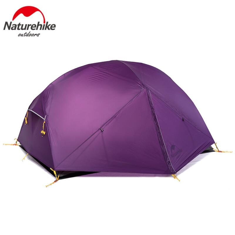 Naturehike 2 Person Tent Ultralight Outdoor Camping Tent Waterproof 20D Nylon Fabic 3 Season Tourism Hiking Tents With Free Mat naturehike factory store free mat ultralight taga tent 1 2 person outdoor camping hiking 3 season double layer windproof tent