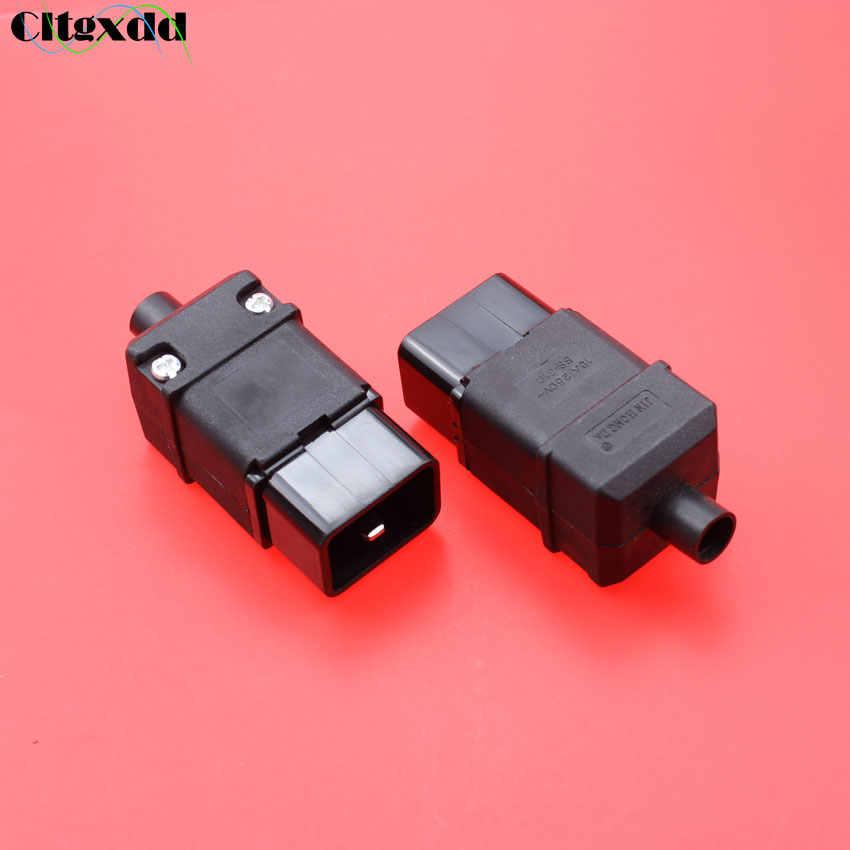 Фото Cltgxdd AC 16A 250 V черный гнездо PDU Стандартный IEC 320 C19 C20 электрическая Силовая розетка