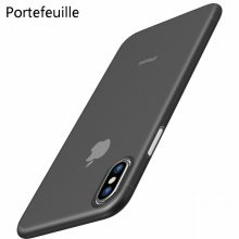 Portefeuille para o iphone X Caso PP Ultrafino Proteja Hard Case para o iphone 10 8 Além de 7 6 6 s 5 5S se Matte Tampa Slim Casos de Coque(China)