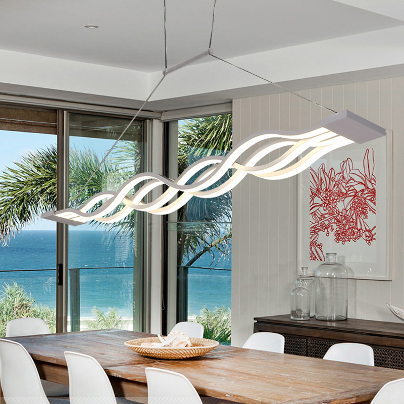 Modern aluminum Acrylic LED indoor lighting Home decoration meal Pendant lamp lamparas d ...