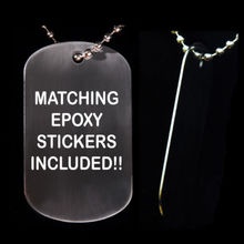 cheap high quality blank titanium dog tag necklace Military Blank Dog Tag & Epoxy Stickers