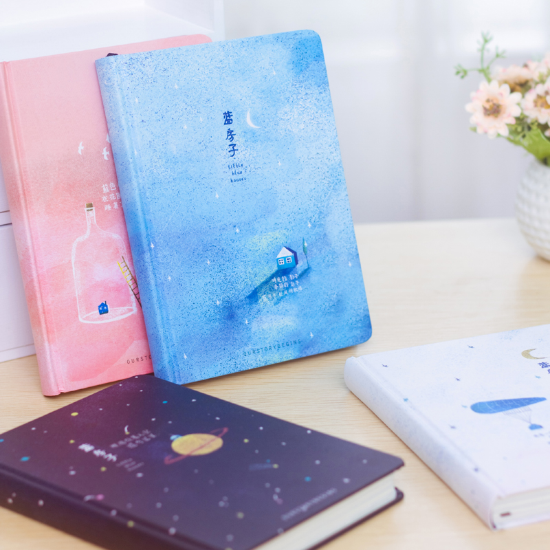 Korea creative blank page A5 notebook stationery small fresh painting draw daily writing pads school office supplies planner marble a5 notebook blank page sketchbook diy drawing bullet journal daily planner school and office stationery wholesale