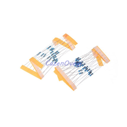 50pcs/lot 1W Metal Film Resistor 1% 1R ~ 1M 2R 10R 22R 47R 100R 330R 1K 4.7K 10K 22K 47K 100K 330K 470K 1 2 10 22 47 100 330 Ohm