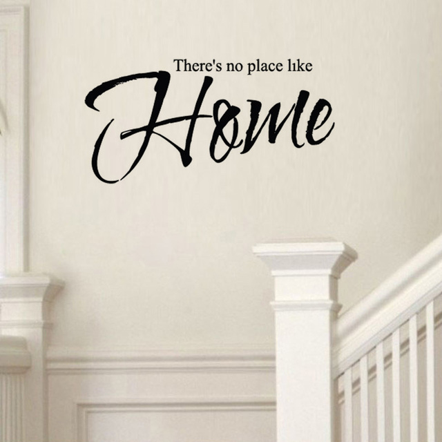wall decals factory price there's no place like home removable pvc