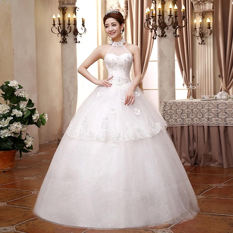 Real Maine Weddings 2017: Real Photo Girls Halter Wedding Dress 2017 New Korean