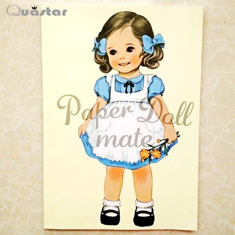 De moda de Corea Muñeca de Papel Linda Chica libro para colorear ...