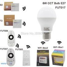 MiLight LED Bulb E27 6W Color Temperature Adjustable Smart CT Dual White FUT017 Bulb 2.4G Remote Control Android/iOs APP WiFi