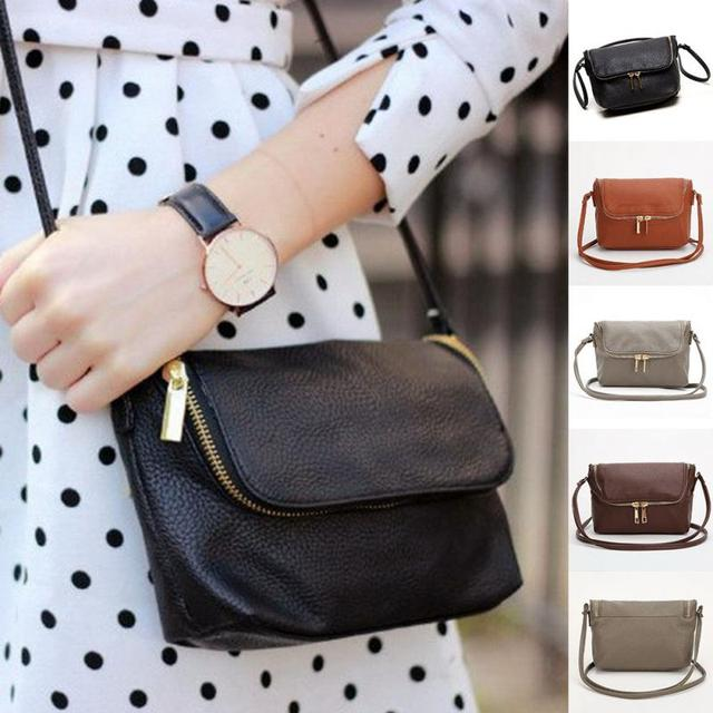 Las Shoulder Bags Cute Zipper Small Female Crossbody Bag Long Strap Messager Soft Pu