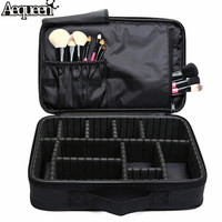 Professional Makeup Case Travel Organizer Set Large Black Cosmetic Bag Functional Storage Suitcase For Cosmetics Make Up Brushes