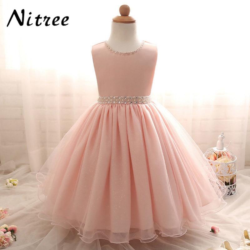 Pretty Pink Cap Sleeve First Communion Gown for   Girls   Beading Sash Knee Length   Flower     Girl     Dresses   for Weddings