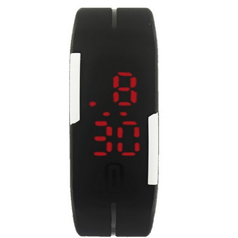 New Fashion Candy Color Men Women Intelligent LED Sports Silicone Bracelet Wrist Watch Hour Clock Water Proof For Couples